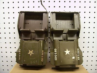 2 Tonka Jeep Army Body And Seats For Parts X 2
