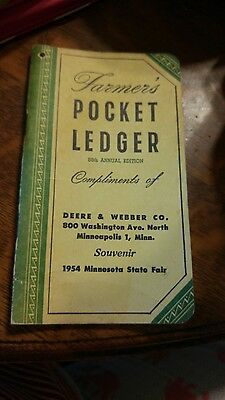 John Deere 1954-55 Farmer's Pocket Ledger Tractor Advertising Minneapolis Minn