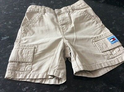 Boys TOMMY HILFIGER cargo shorts age 12-18 months