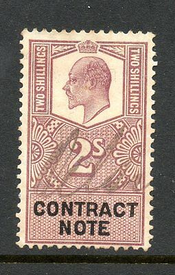 GREAT BRITAIN Edward VII 2/- CONTRACT NOTE used