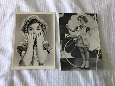 2 x Shirley Temple child actress printed postcards B/W