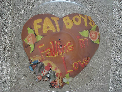 "FAT BOYS 1987 Rare UNCUT shaped Picture Disc 7"" UK 45 Rap Hip Hop electro vinyl"
