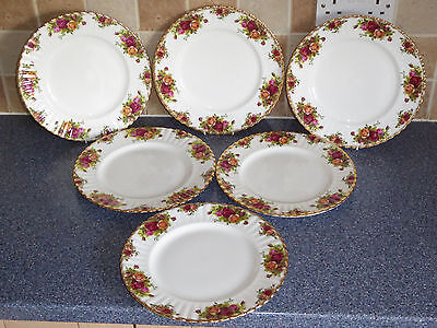 Royal Albert Old Country Roses Dinner Plates X6 1St Quality, Dinner Service