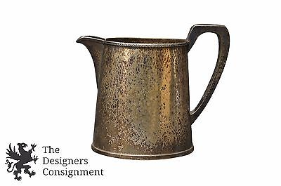 Vintage Sheffield Hammered Oval Silverplate Water Drink Pitcher Derby Silver Co