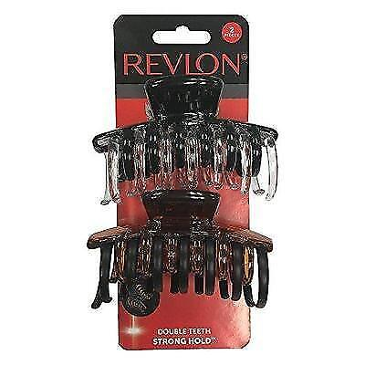 Revlon Strong Hold Hair Claw Clips, 2 Count New