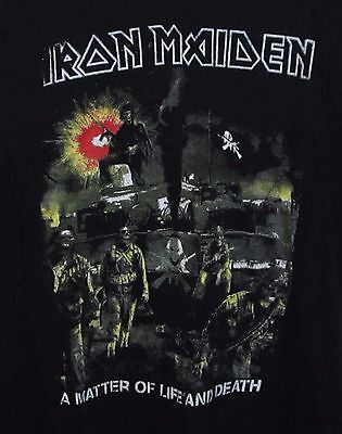 Iron Maiden A Matter of Life And Death Black Rock Tee T-Shirt Men's size Large