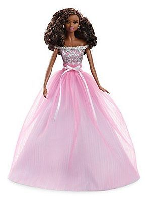 Happy Birthday Wishes Barbie Nikki African American Doll 2017 Collector New