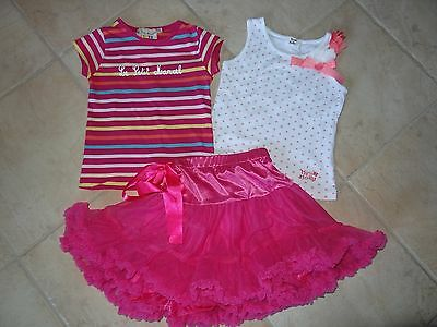 Lot Mini Molly Jupe Tee Shirt + Little Marcel Tee Shirt Taille 5 Ans