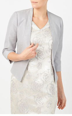 Mother of the Bride Jacques Vert 14 Dress and Jacket Silver Grey
