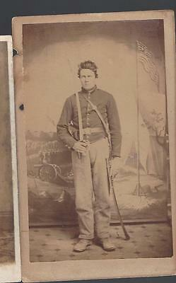 Civil War Era CDV of Union Double Armed Union Cavalryman from West Virginia
