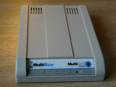 MultiTech Systems Modem with AC Adapter MT5656ZDX and Serial Cable