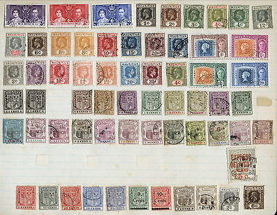 Mauritius Early Issues Fine Used / Mint Lot On Old Page.     A124
