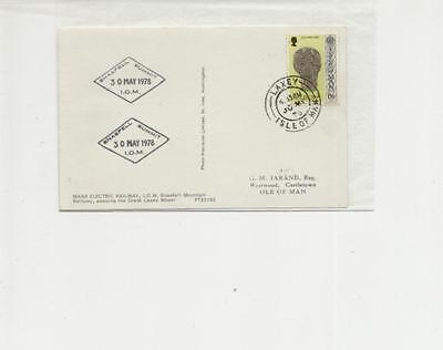 Isle of Man 1978 Snaefell Summit cachets on Laxey cancelled MERcard