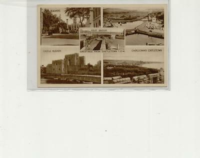 Isle of Man Postcard, Montage of Castletown, unused