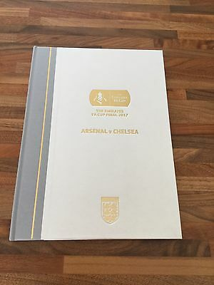 Limited Edition Hard Back Arsenal V Chelsea F A Cup Programme 2017