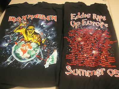 IRON MAIDEN- Europe Festival  MENS Large T-SHIRT q