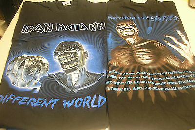 IRON MAIDEN - Different World - Medium Mens Tshirt h