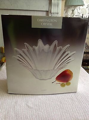 Dartington Crystal Etoile (Star) Large Bowl Vintage 1980's