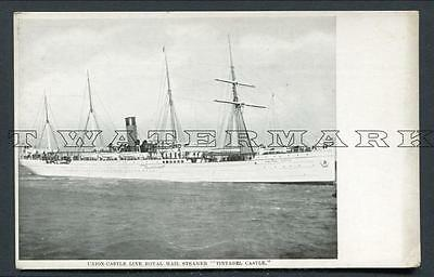 "C1906 Union Castle Line ""tintagel Castle"" -- Less Common Ship"