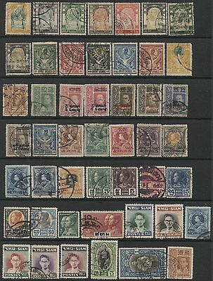 P998 - THAILAND SIAM - Collection of Early Used  Stamps - Cancels!