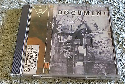 R.E.M. 1987 I.R.S. Promotional CD Document SIGNED by Mike Mills & Peter Buck