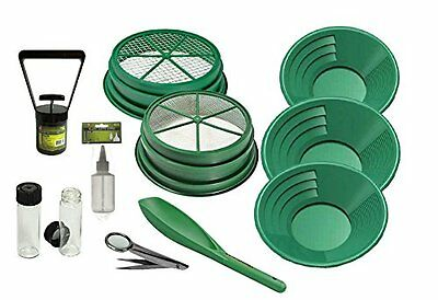 11 pc Prospecting Mining Gold Pan Panning Kit w/ Classifiers, Gold Pans + MORE!!
