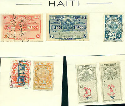 D746 Haiti Used. Sheet From Old Revenues Collection.