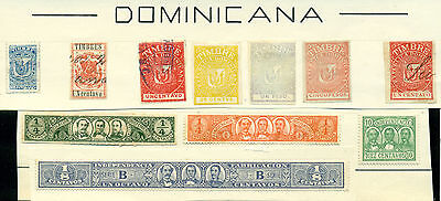 D747 Republica Dominicana Mng/used. Sheet From Old Revenues Collection.