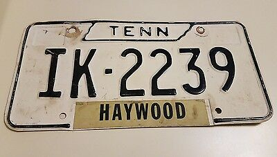 Vintage Tennessee Tn Metal License Plate Haywood County Co 1966