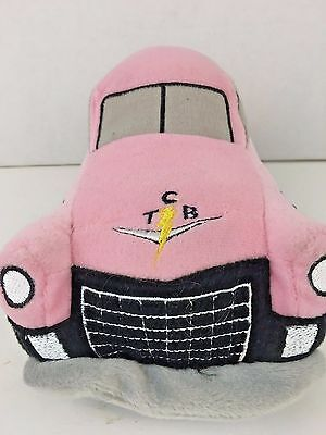 """Elvis Presley Pink Cadillac Stuffed Car 11"""" Plush Toy TCB Rare Collectible"""