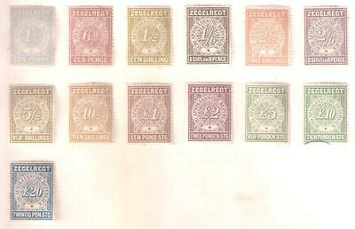 14102 TRANSVALL set of 13 Revenue stamps to TWENTY POUNDS