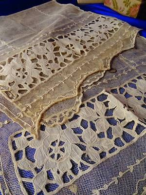 A Charming Pair Of French Tulle Curtain Panels C.1910
