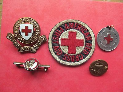 British Red Cross Collection Of Rare  Vintage Badges Set 2