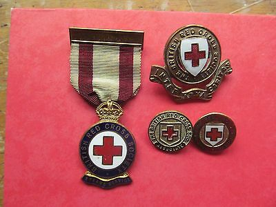 British Red Cross Collection Of Rare  Vintage Badges Set 3