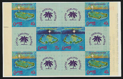 Cocos Islands 223a Booklet MNH Christmas, Map