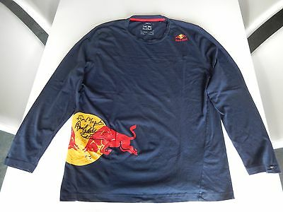 Red Bull Athlete Only Björn Dunkerbeck used long sleeve shirt sz XXL >VERY RARE<