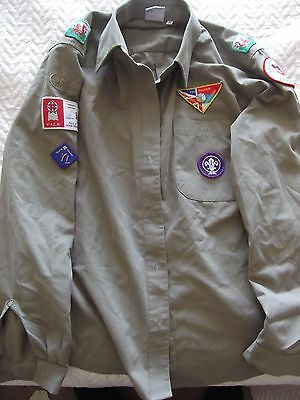 Scouts Shirt With Badges Welsh 2006 Vintage