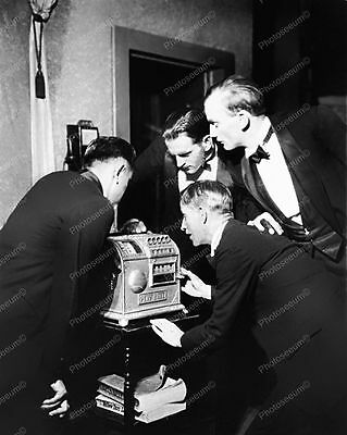 Caille Improved Baseball Slot Machine 1911 Vintage 8x10 Reprint Of Old Photo