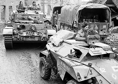 c1945 British Humber Armoured Car and Comet Tank World War Two Photograph