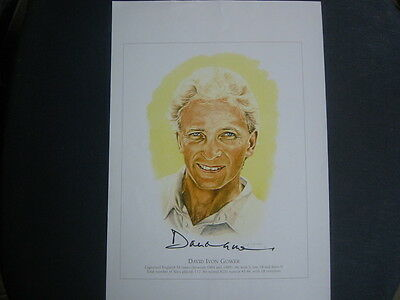 A4 Signed Print/poster Signed By David Gower  Former England Captain
