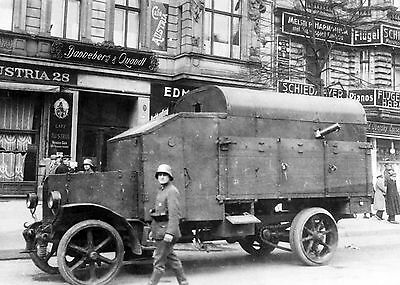 WW1 c1918 German Armoured Car First World War  Photograph