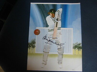 A4 Signed Print/poster Signed By Barry Richards  South Africa/hampshire Ccc