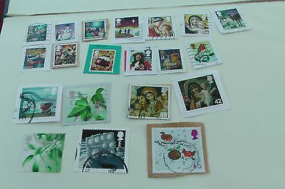 High Value Christmas stamps fine used to 2015  on paper
