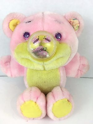 1987 Playskool Nosy Bears FlyBye Butterfly Plush Pink Yellow Vintage Stuffed Toy