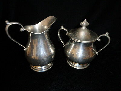 Atc Hanle & Debler Pewter Creamer And Sugar Set 2 Piece