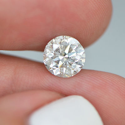 2 Carat Round Shape G Color SI2 100% Natural Loose Diamond For Solitaire Ring