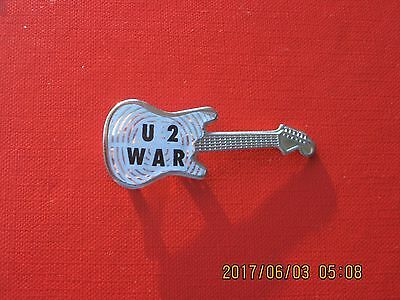 Very Rare U2 War Guitar Pin Pinback Badge