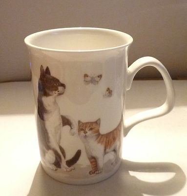 Ceramic MUG ROY KIRKHAM 1989 Cat Lovers PLAYFUL CATS ON PARADE