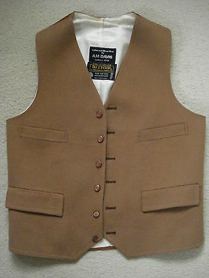 Quality Hand-Stitched Country Gentleman'S Hunting & Shooting Pure Wool Waistcoat