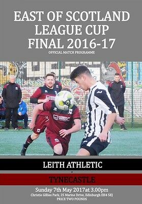 Leith Athletic v Tynecastle East of Scotland League Cup Final 7 May 2017